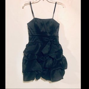 Masquerade Black Short Ruffled Dress